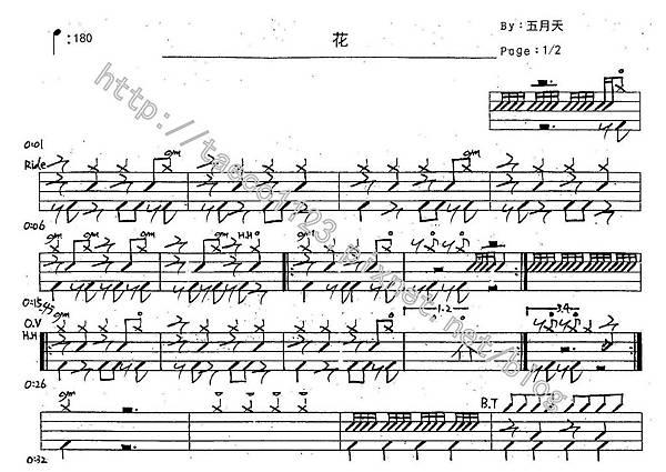 五月天-花 鼓譜