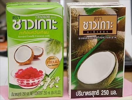 coconut cream, 2 types