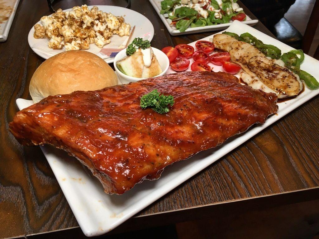 美式煙燻豬肋排套餐