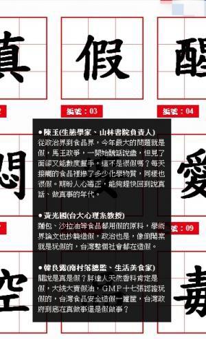 台灣2013代表字大選今天公布票選結果,「假」獲選為今年的代表字。(圖擷取自台灣2013代表字票選活動網站)
