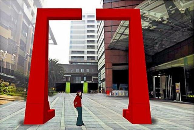 新光三越小西門將以大紅色入口,凸顯府城吉慶意象。