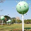 新營綠都心百花祭會場,布景跟往年不一樣。
