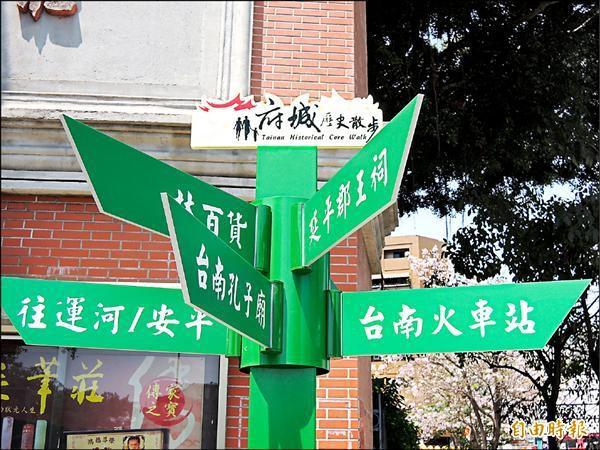 觀旅局在市區四大文化園區新增方向指示牌