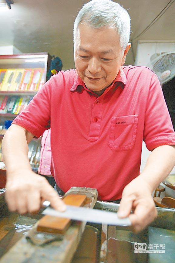 金成刀剪店不論何種刀具都可修可磨,用富士山石磨過更耐用。