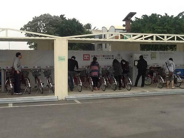 台南T-bike目前在安平地區試營運中。