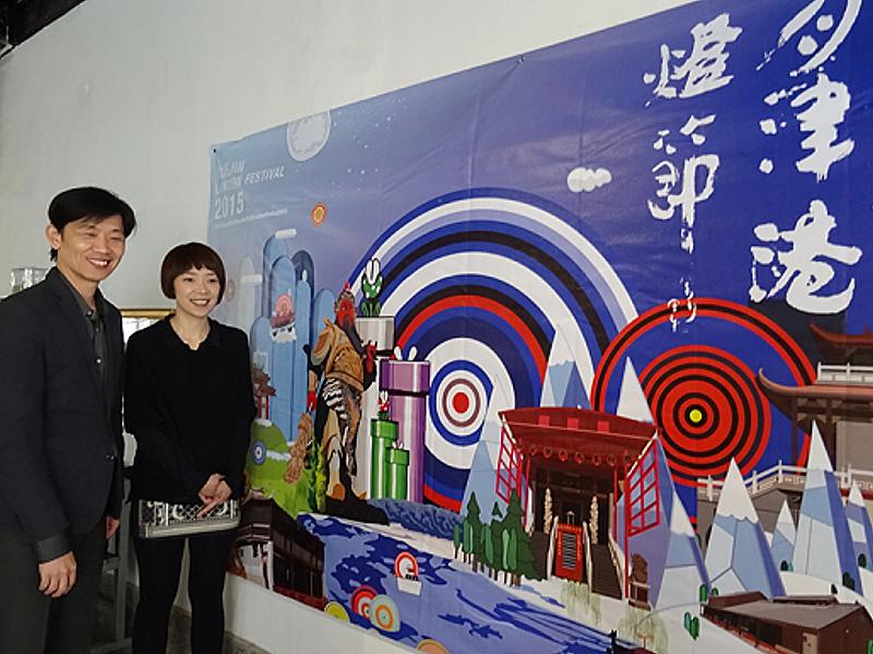2015月津港燈節將在2月14日登場,這座「倒影之煙」呈現鹽水月津港好山好水及蜂炮意象,由台灣藝術家康雅筑和加拿大Christian Nicolay攜手打造。