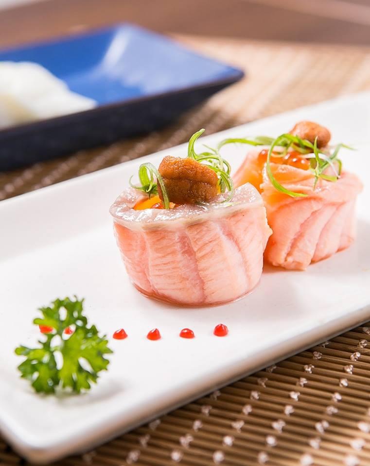 海膽鮭魚塔