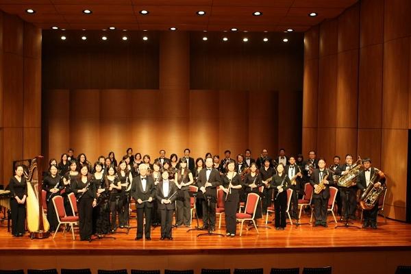 臺灣管樂團將在大佳河濱公園區行動巨蛋演出。
