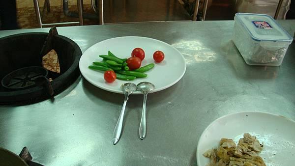 四季豆和番茄是配菜