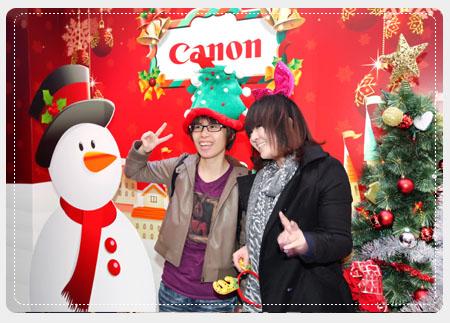 免費的「Enjpy Photo即拍即印為「Canon歡樂聖誕屋」中最受民眾喜和的體驗活動。