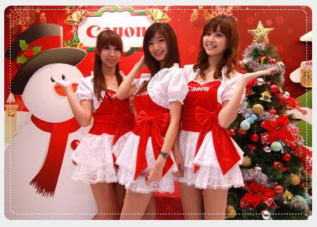 Canon聖誕小甜心將於現場服務所有消費者,陪大家度過一個最happy的聖誕節。
