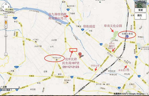 6悅來民宿位置圖1