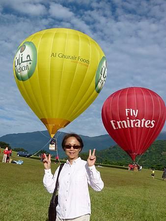 悅來民宿董媽媽在鹿野高台參加熱氣球嘉年華