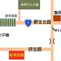 民宿的位置圖