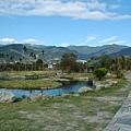 民宿前水池