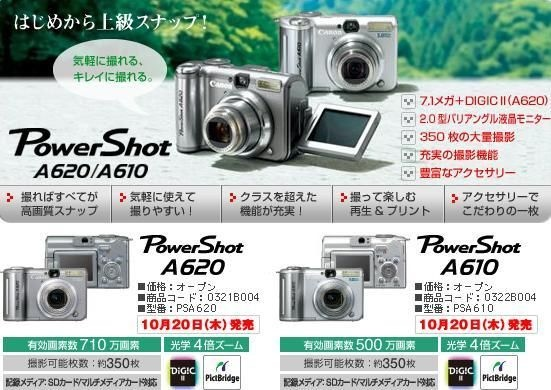 佳能 Canon PowerShot A610 (2)