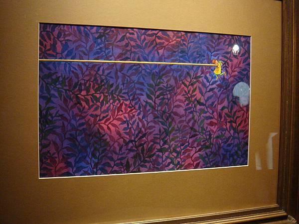 20110211(五)‧世界的角落特展,紫色花內快掉下的可憐人