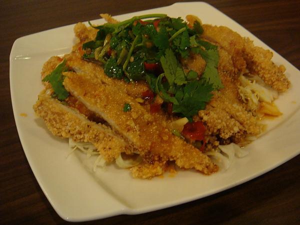 20110220肉燥飯店(文化中心店)椒麻雞
