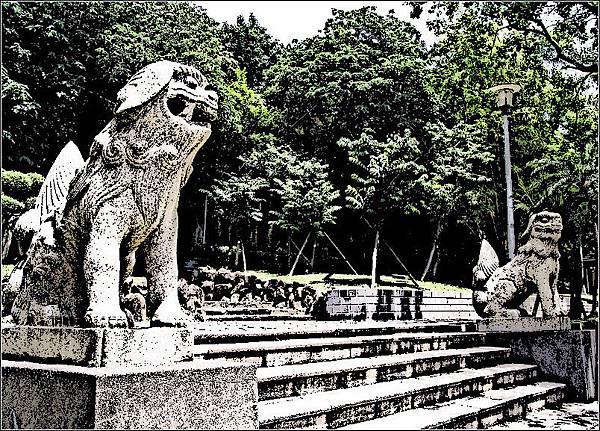 台灣神社的守護神獸-狛犬(高麗犬)
