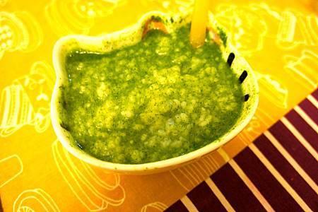 菠菜小魚粥 8