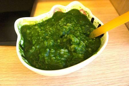 菠菜小魚粥 9
