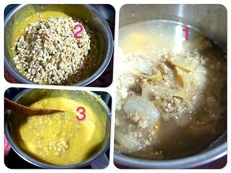 甜瓜蘑菇燉五穀糙米粥4