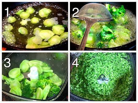 青花椰馬鈴薯飯泥佐起司洋菇肉醬汁4