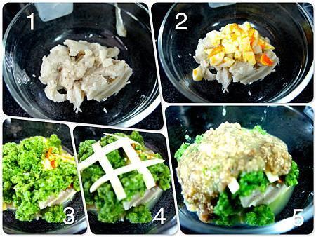 青花椰馬鈴薯飯泥佐起司洋菇肉醬汁6