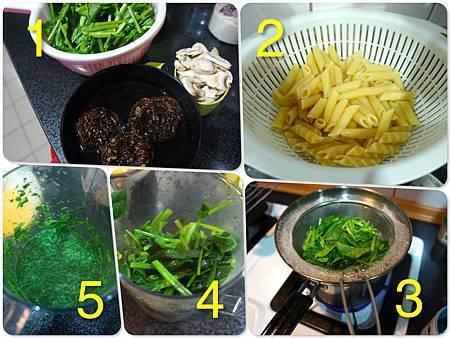青醬中西菇燴雞肉筆管麵 1