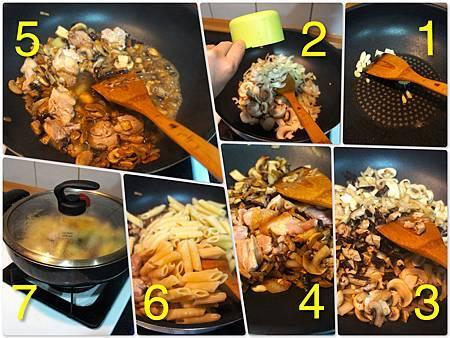 青醬中西菇燴雞肉筆管麵 3