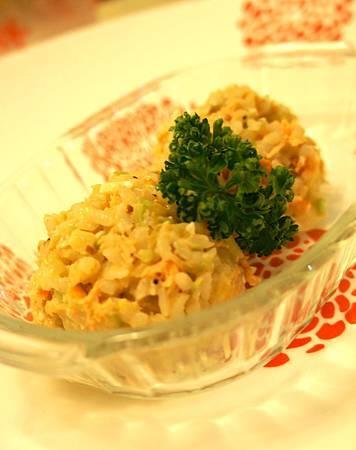 鮭魚果豆燉飯 2