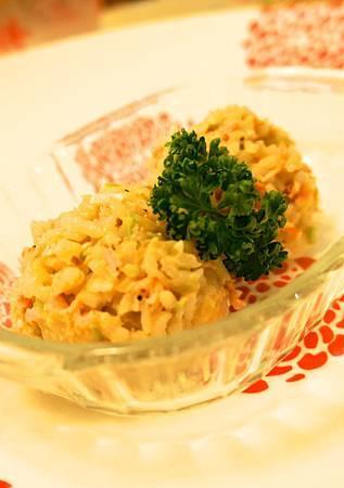 鮭魚果豆燉飯 4