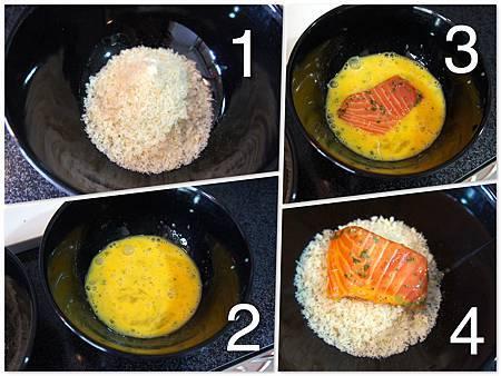 香煎鮭魚佐橘汁優格醬汁 3
