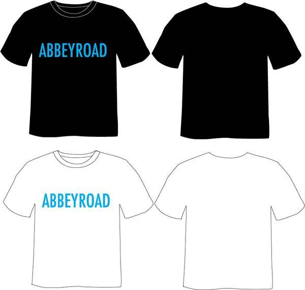 新款式  阿伯路- 黑與白 棉T