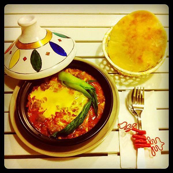 摩洛哥蕃茄牛肉丸塔吉