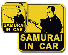 SAMURAI IN CAR