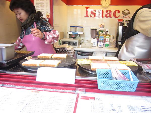 終於吃到ISAAC早餐