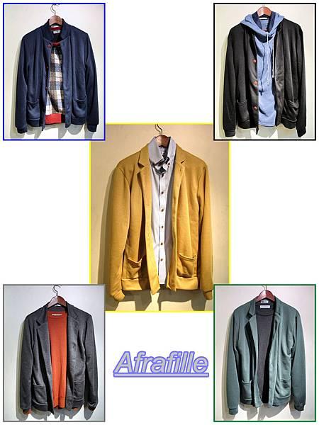 西裝領罩衫 48.50 (5色)