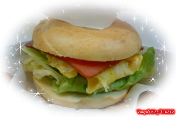 高雄拉亞漢堡-火腿歐姆貝果,362卡