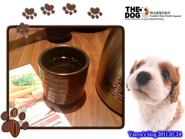 高雄五福大統之居食屋和民-熱呼呼的麥茶先上桌
