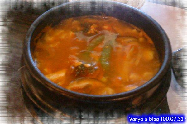 高雄韓式料理之淨豆腐-穎點的野菜豆腐煲