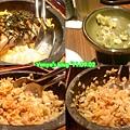 高雄和民-石鍋鰻魚茶泡飯,加入茶前後的比照
