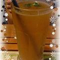 花漾旅淺-晚茶,毛點的野桔果綠茶,去冰