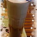 花漾旅淺-晚茶,穎點的去冰無糖卡布奇諾