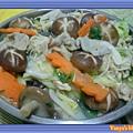 炒蔬菜一大盤,當晚餐!