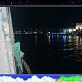 至高雄旗津參加婚禮-輪船上的風景