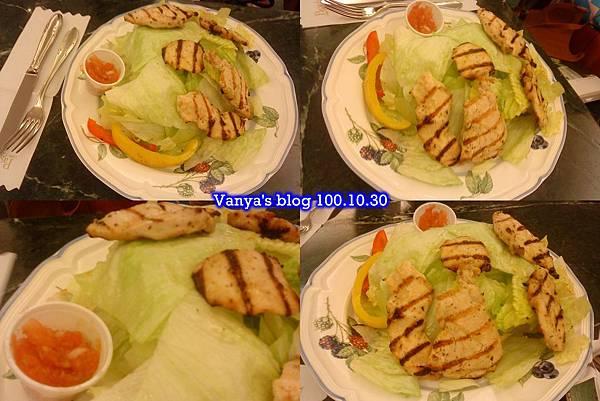 高雄河堤社區-帕莎蒂娜,碳烤香草雞肉沙拉,四連拍