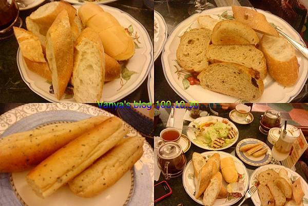 高雄河堤社區-帕莎蒂娜,選好的麵包已切片裝盤