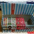 運用起司三明治盒,製作紙膠帶的收納盒