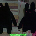 高雄夢時代BF1金石堂-女王妹購買的黑色長枕兔,很討喜